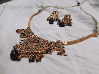 gold and red beaded necklace Jaipur, 302019