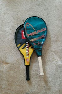 black and red Wilson tennis racket with case Jessup, 20794
