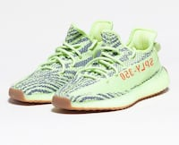 unpaired white and green adidas Yeezy Boost 350 v2 Jersey City, 07310