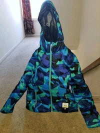 New blue and green floral zip-up hoodie Largo, 20774