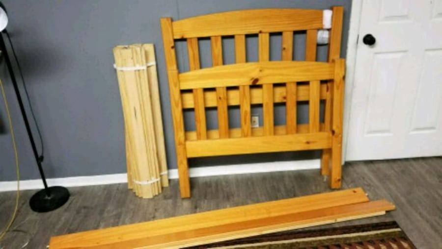 Twin Solid Wood bed frame  0