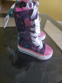 Toddler's black-pink-and-blue high-top sneakers McAllen, 78501