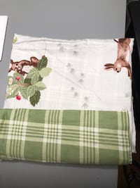 Crib duvet cover with matching pillow case .