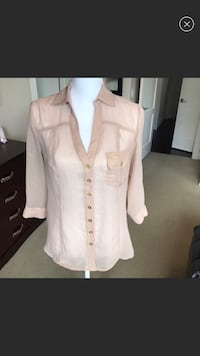 2b bebe Metallic Finish Collared Shirt, S 1464 mi