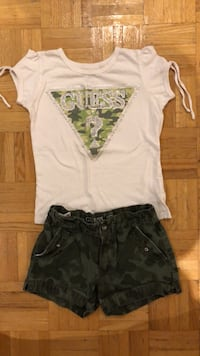 GUESS Army shorts and T-shirt (size 6x) Laval, H7P 3B6