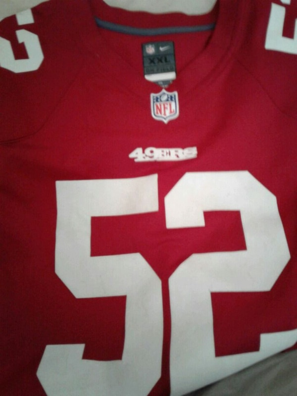6eb6fa06d Used red and white NFL jersey for sale in Salinas - letgo