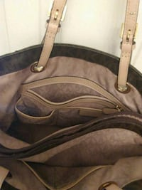 brown and black leather tote bag Inverness, 34453