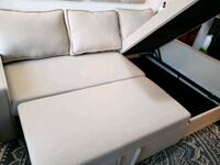 Sectional couch with pull-up bed and storage  Toronto, M8Z 1P3