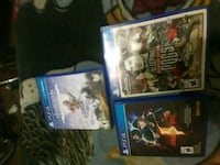 three assorted PS4 game cases Winnipeg, R2K 2M2