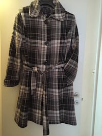 white and black plaid trench coat Helsingborg, 252 34