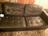 Leather sectional couch  Fort Saskatchewan