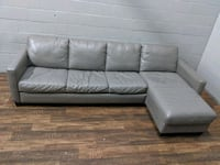 Natuzzi sofa-bed sectional Grey leather. FREE DELIVERY Toronto, M3J 3N4