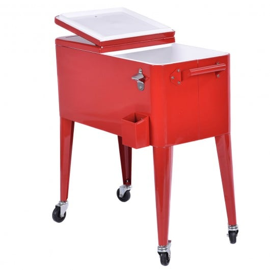 COSTWAY RED OUTDOOR PATIO COOLER (no wheels)