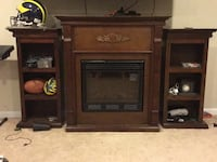 Electric fireplace with two side shelves Antioch, 60002