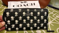 black and white floral print Coach wallet Sebring, 33872
