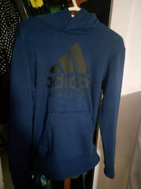 blue and black Adidas pullover hooded jacket Winnipeg