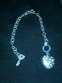 925 silver heart and key charm/anklet   Stockton, 95203