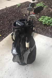 Gold stand bag with clubs Minneapolis, 55403