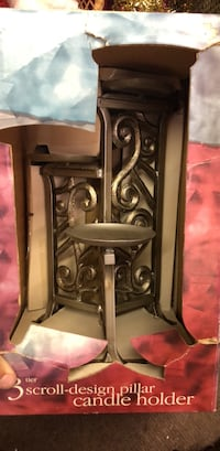 3 tier scroll-design pillar candle holder Middletown, 17057