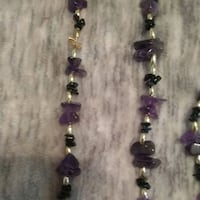 Handmade banded amethyst necklace and bracelet  Corvallis, 97330