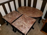 Mahogany with granite table set. North Olmsted, 44070