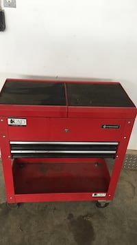red Procore tool chest
