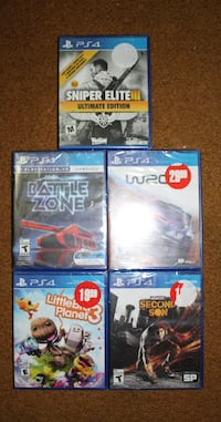 PS4 games (sealed) for sale ($10) - (Trades okay)