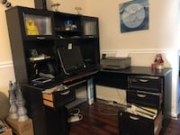Black desk normal wear and tear need a little work but still looks good  Indian Head, 20640
