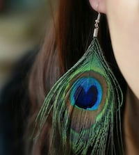 Peacock Drop Earings Ahmedabad, 380013