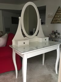 white wooden vanity table with mirror Arlington, 22201