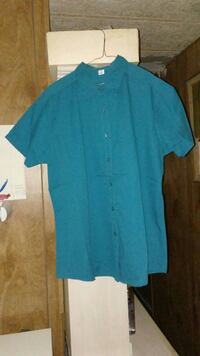 Teal, Ladies Button-Up Shirt, Size XL. New Waverly
