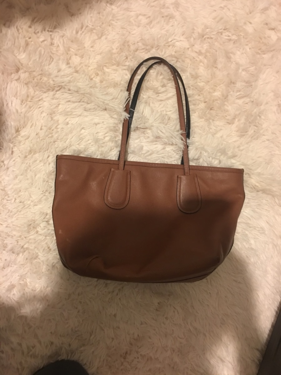 Women's brown leather tote bag - NC