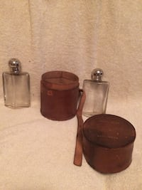 2 Vintage Flasks with Leather Carrying Case  Fairfax, 22030