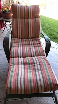 red, white, and green plaid fabric armchair Los Angeles, 91307