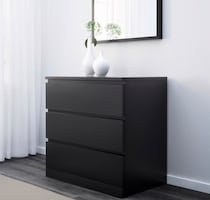 MALM 3-drawer chest