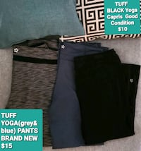 Yoga pants and capris - both yoga pants are brand new &capris