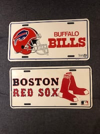 Bills Red Sox license plates
