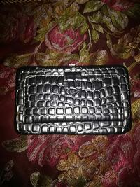 Silver Textured Womens Wallet