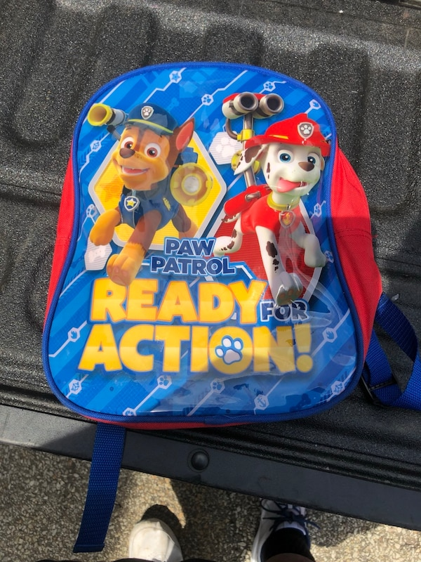 Paw Patrol- Ready for action backpack,  blue and red 60a5af68-996c-4c7b-b7db-a1b10f50ad2d