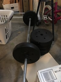 black and gray weight bench Calgary, T2Y