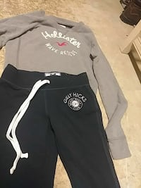 black Gilly Chicks pants with gray Hollister sweater Bulverde, 78163