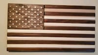 HAND MADE CEDAR AND OAK FLAG Fayetteville, 17222