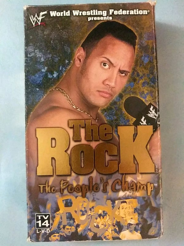 WWF The Rock the peoples champ vhs 57ae248f-a8f8-45bf-ade1-63c21d058759