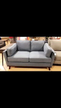 Blue fabric 2-seat sofa Columbus, 43202