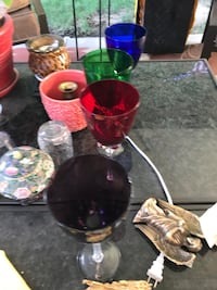 Large colored wine glasses