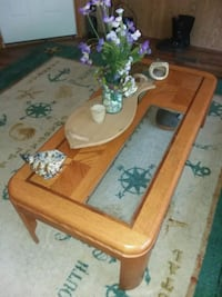 Wood and glass coffee table Lewes, 19958
