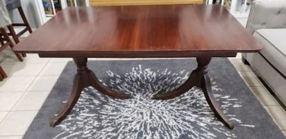 Antique Dining Table Chairs Set