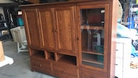 brown wooden TV hutch with cabinet Kelowna, V1V 3B7