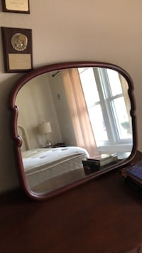 Brown wooden framed mirror with mirror Corpus Christi, 78411