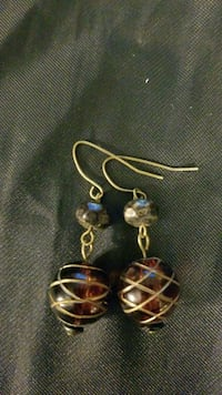 Amber ball earrings  McLean, 22102